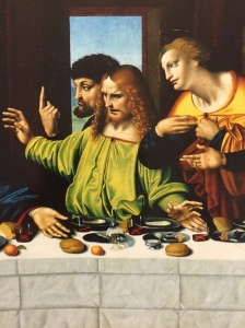 This painting of The Last Supper provided some of the seed values for deciphering all the hand signals we see.