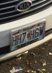 Sign From God on License Plate