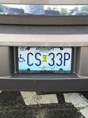 Sign from God via a license plate . Thomas Hunt